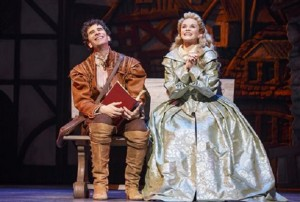 John Cariani, left, and Kate Reinders , Something Rotten