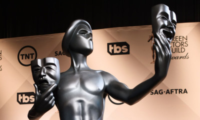 Mandatory Credit: Photo by Buckner/Variety/REX Shutterstock (5490254a) Screen Actors Guild Awards statue 22nd Annual Screen Actors Guild Awards Nominations, Los Angeles, America - 09 Dec 2015