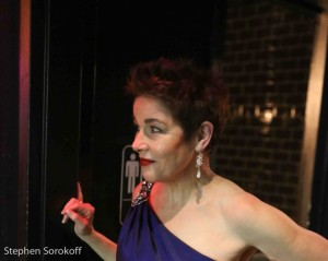 Christine Andreas, about to take the stage at Feinstein's/54 Below