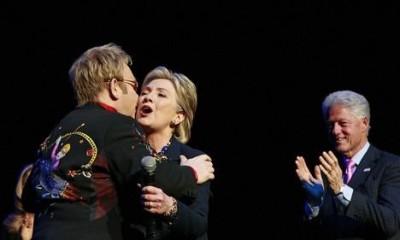 Elton John ,Hillary Clinton, Bill Clinton