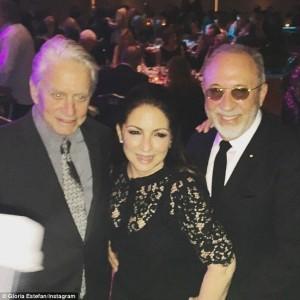 Michael Douglas, Gloria and Emilo Esteban