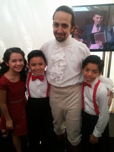 Lin Manuel Miranda, and the On Your Feet kids