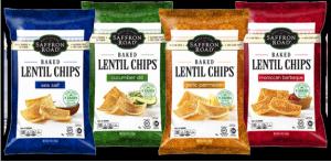 Baked Lentil chips