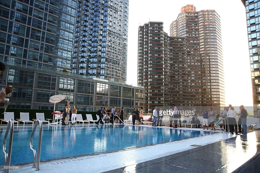 New gym is sky high times square chronicles Bowling swimming pool opening times