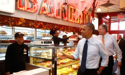 President Obama, Bill De Blasio, Junior's