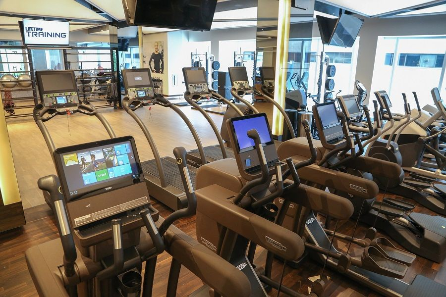 new gym is sky high times square chronicles. Black Bedroom Furniture Sets. Home Design Ideas