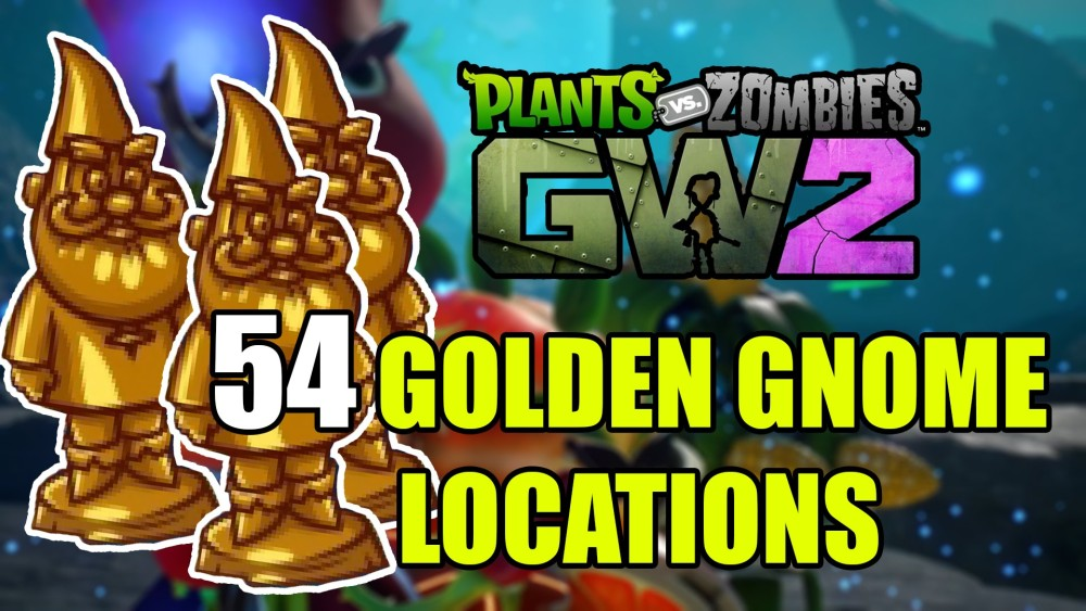 Locations of the 54 Gold Gnomes in Plants Vs Zombies: Garden