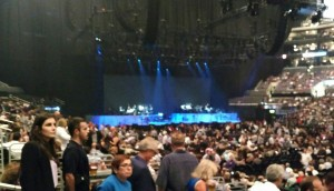 Live from inside the California concert