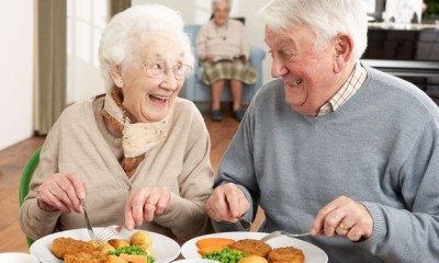 elderly, food care