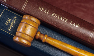 Real Estate, Law Books, Gavel
