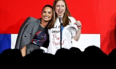 Demi Lovato, Chelsea Clinton