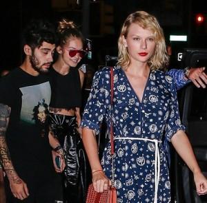 Taylor Swift, Gigi Hadid, Zayn Malik