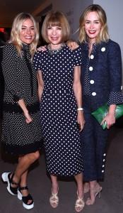 Emily Blunt, Anna Wintour, Sienna Miller