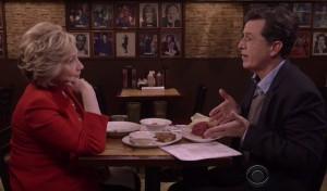 Carnegie Deli, Stephen Colbert, Hillary Clinton