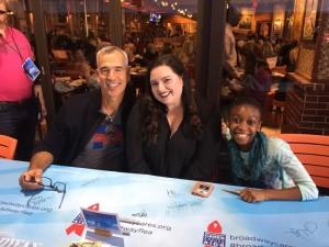 Jerry Mitchell, Maddie Baillo, Shahadi Wright Joseph