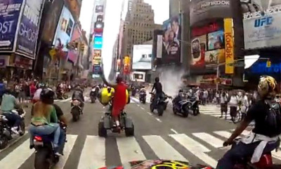 Bikers in Times Square