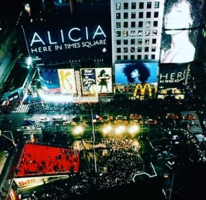 Alicia Keys, Times Square