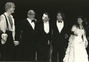 Steve Barton, Harold Prince, Michael Crawford, Andrew Lloyd Webber, Sarah Brightman
