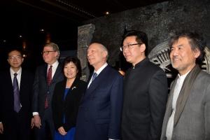 Lei Jin (Office of Shanghai Foreign Affairs), Robert Nederlander, Jr., Ambassador Zhang Qiyue, Rabbi Arthur Schneier, Chen Zhongwei, David Henry Hwang