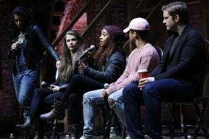 Hamilton, Eliza Ohman, Sasha Hollinger Jordan Fischer, Rory O'Malley