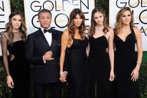 Sistine Stallone, Scarlet Stallone, Sophia Stallone, Sylvester Stallone, Jennifer Flavin
