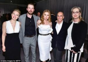 Amy Adams, Jeffrey Katzenberg,Meryl Streep