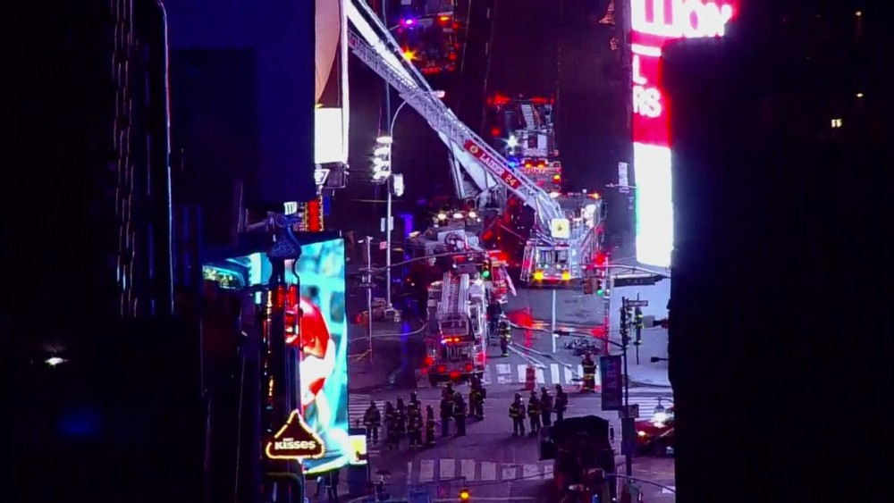 Fire In Times Square