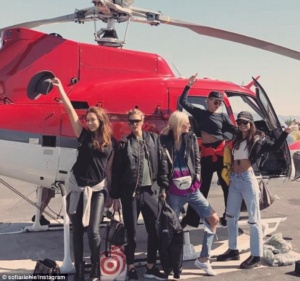 Chantelle Waters, Jessica Hart, Poppy Delevingne, Sophia Richie,Chloe Bartoli