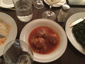 Mozzarella & Vino, meatballs