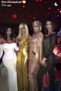 Kim Kardashian, Donetella Versace, Kylie Jenner, Bella Hadid