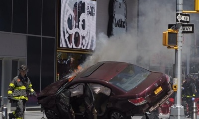 Car cash, Times square