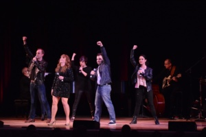 Maxine Linehan, The Broadway By The Year Chorus: Jeanine Bruen, Emma Camp, Pedro Coppeti, Emily Iaquinta and Jacob Pressley