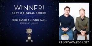 Dear Evan Hansen, Music & Lyrics: Benj Pasek & Justin Paul