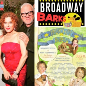 Malcom McDowel, Bernadette Peters, Broadway Barks