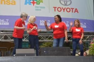 Nancy Opel, Elizabeth Ward Land, Aisha de Haas, Andrea Bianchi