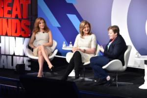 Julia Boorstin , Arianna Huffington, Frances Frei