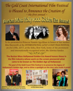 Budd Moss Award, Rita Hayworth
