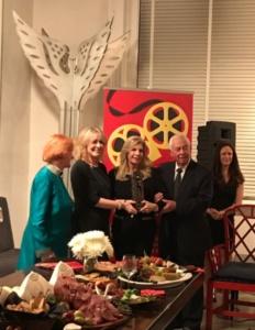 Edwina Sandys, Regina Gil, Princess Yasmin Aga Kahn, Budd Burton Moss, Caroline Sorokoff