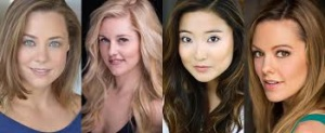 Erika Henningsen, Taylor Louderman, Ashley Park,Kate Rockwell