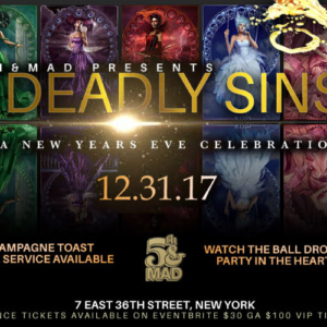 Seven Deadly Sins New Year Eve party