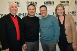Father Edward L. Beck, C.P., Raul Esparza, David Fontanila, Sheen Center,, Laura MooreA. Brown