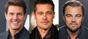 Tom Cruise, Brad Pitt, Leonardo DiCapro