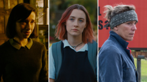 The Shape of Water, Lady Bird ,Three Billboards