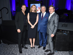 Ryan Seacrest,Tony Bennett, Susan Benedetto