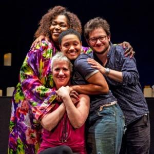 Liz Mikel , Kiersey Clemons, Mark Rosenblatt ,Eve Ensler
