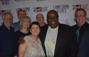 The York Theatre Board of Directors with Akin Babatunde that includes Alan Govenar, W. David McCoy, Victoria Cundiff, Joan Ross Sorkin,Gerald F. Fisher, James Morgan