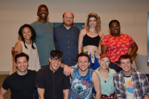 Jason Tam, George Salazar, Gerard Canonico, Lauren Marcus, Will Roland, Back: Stephanie Hsu, Britton Smith, Jason SweetTooth Williams, Katlyn Carlson, Tiffany Mann
