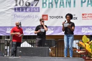 106.7 Lite FM's Victor Sosa with Preston Truman Boyd , Ashley Bryant