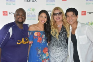 Major Attaway, Arielle Jacobs and Telly Leung, Lite FM's 106.7 Delilah