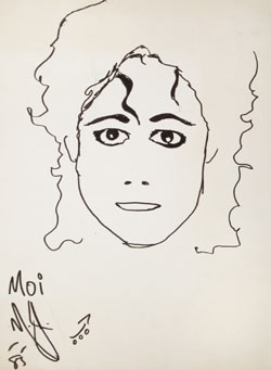 fa3a29fb08 Michael Jackson Original Drawing
